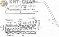 Cylinder head & cylinder head cover assembly b7605-1003000/04
