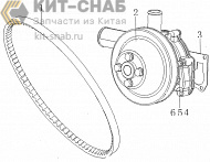 Water pump assembly bb0аЗ-1307000/03