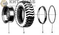 B6800D5 RIM AND TYER ASSEMBLY